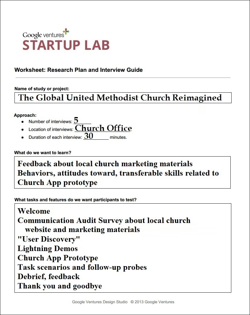 user testing setup and interviews middot the global united methodist interview guide
