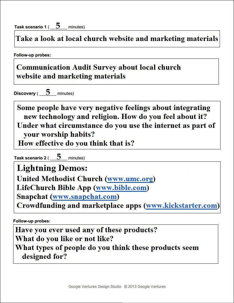 user testing setup and interviews middot the global united methodist example mobile app use case